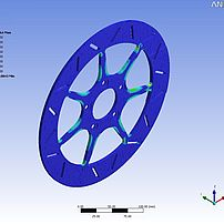 Brake disc FEM analysis