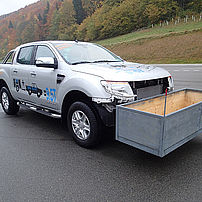 Ford Ranger with front axle uprated payload