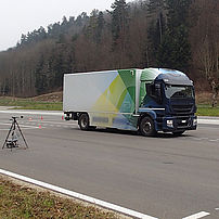 Electric lorry noise measurement