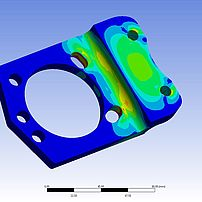 Brake calliper adapter FEM analysis