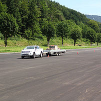 Pendulum performance road test in line with trailer load increase