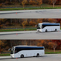 Advanced emergency braking system, stationary target – coach