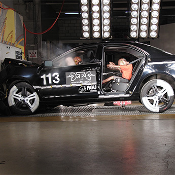 Crash test, sector passive safety